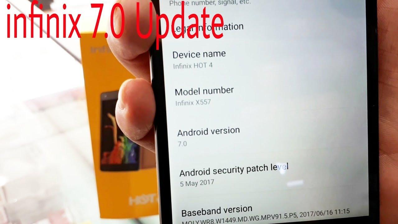 How To Upgrade infinix Hot 4 update 7 0  how to update infinix
