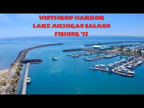 Catching wild organic Lake Michigan Salmon and Trout.