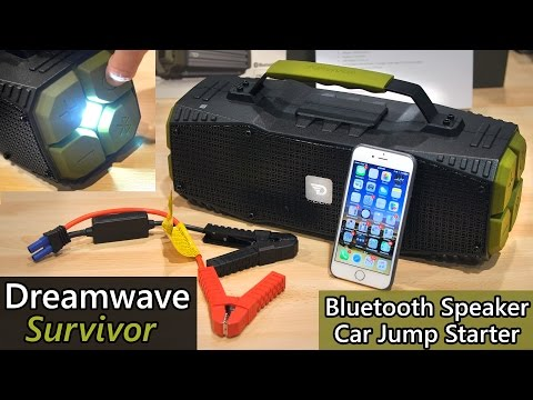 "dreamwave-""survivor""-outdoor-bluetooth-speaker---car-jump-starter!!!---ces-2016"