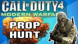 call of duty 4 prop hunt funny moments best round ever trolling nogla stop sign