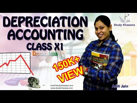 Depreciation Accounting: Class 11 (Straight Line Method) | Study Khazana