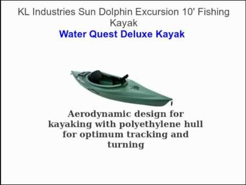 KL Industries Sun Dolphin Excursion 10' - Fishing Kayak
