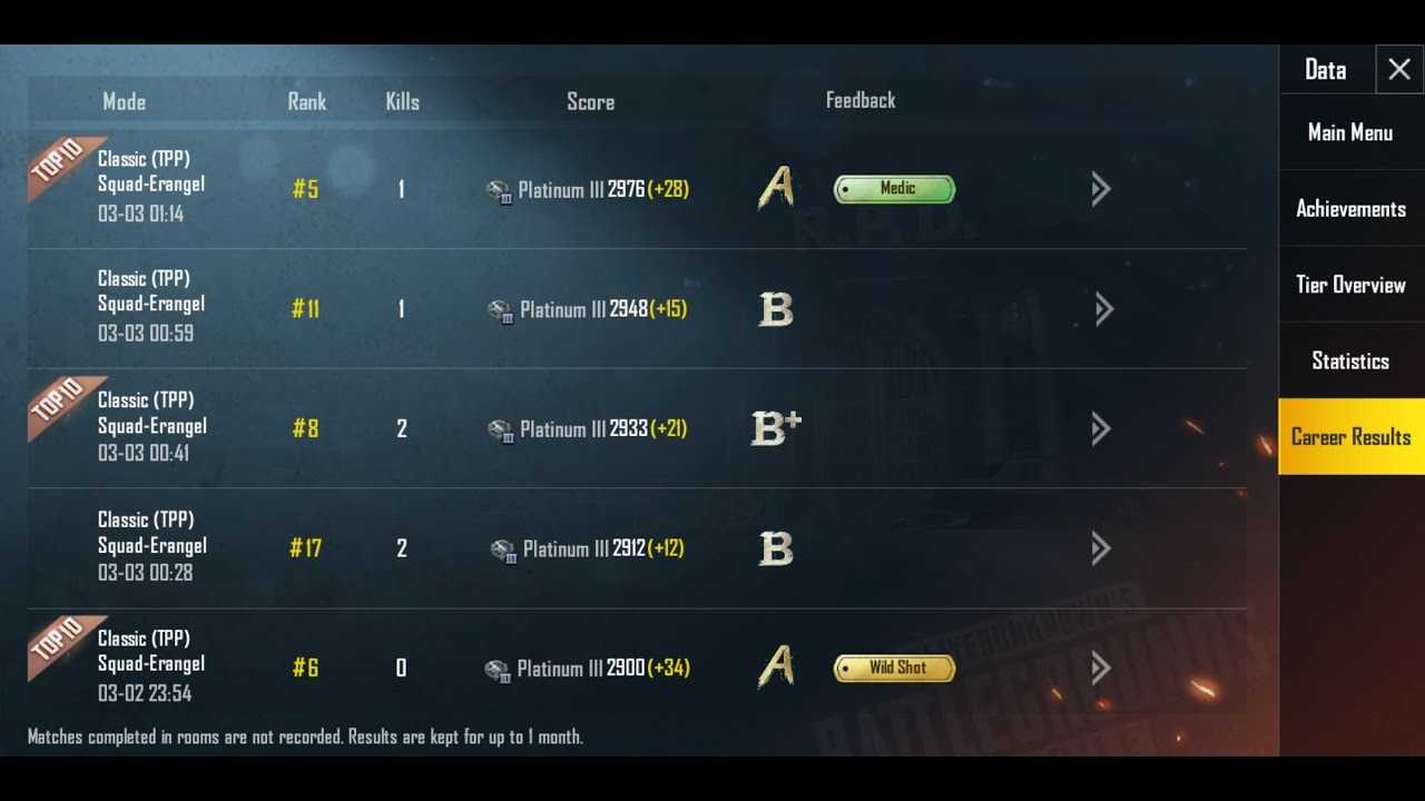 Pubg Mobile | How To Check Any Friends Profile | Check Career Results And  Statistics