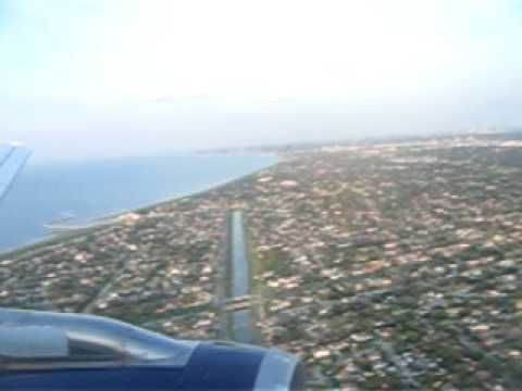 Landing In New Orleans Post Katrina, Over Lake Ponchatrain!