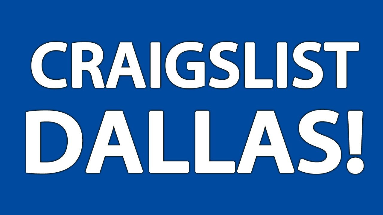 Craigslist Dallas - YouTube