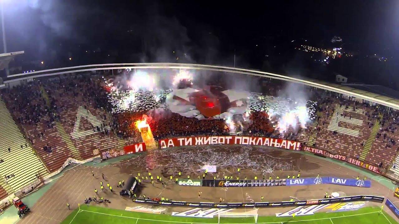 crvena zvezda red star vozdovac 2 2 delije  best supporters in