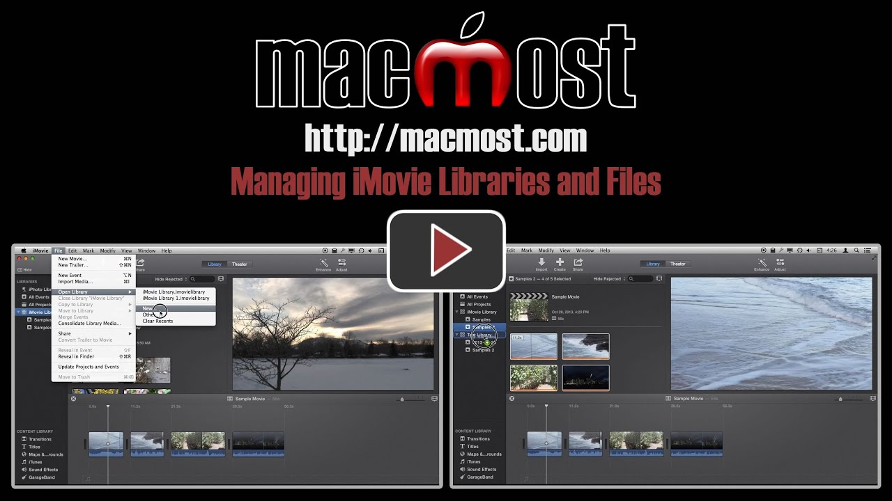Managing iMovie Libraries and Files
