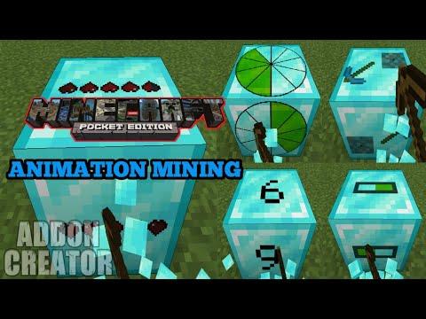 Minecraft Pocket Edition || Add-On ANIMATION MINING Mcpe