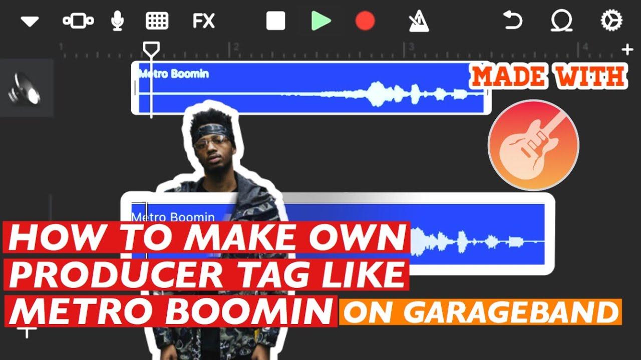 How To Make Own Producer Tag Like Metro Boomin on GarageBand IPHONE/IPAD