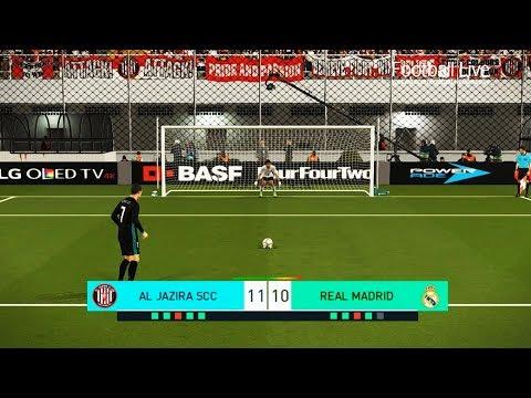 Al Jazira vs Real Madrid   FIFA Club World Cup   penalty shootout   الجزيرة - ريال مدريد   PES 2018
