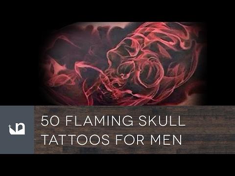 50 Flaming Skull Tattoos For Men
