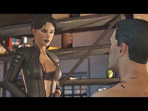 Catwoman and Batman Romance Scene
