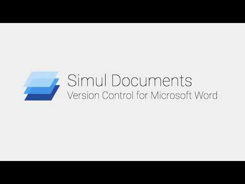 Simul Documents - Version Control For Microsoft Word