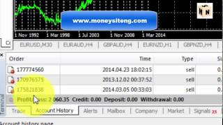 Video showing live login into Forex trading brokerage account