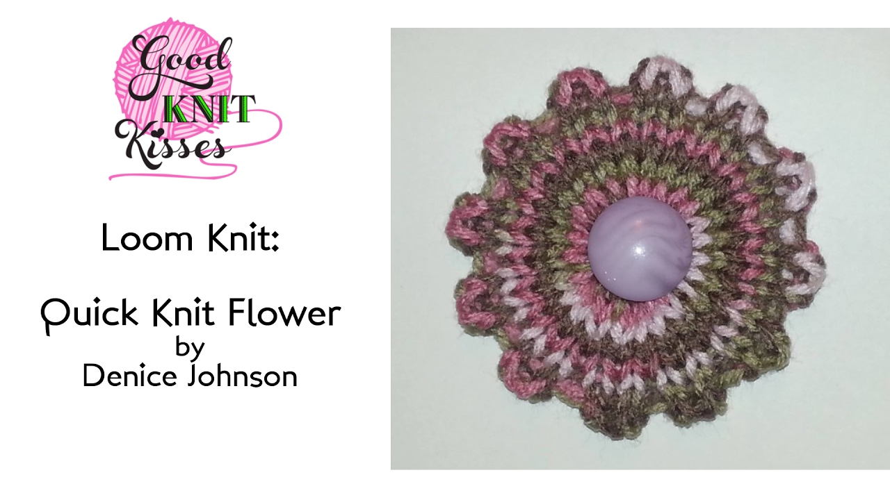 How to Loom Knit a Quick Knit Flower | Loom Along - YouTube