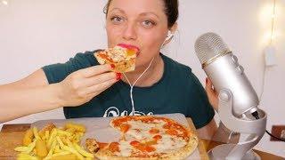 ASMR PIZZA + PATATINE (EATING SOUND) SOFT SPEAKING