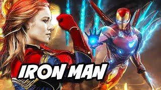 Avengers 4 Iron Man Captain Marvel Easter Egg Scene Breakdown