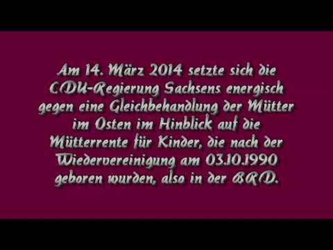 Mütterrente OST/WEST 03.10.1990