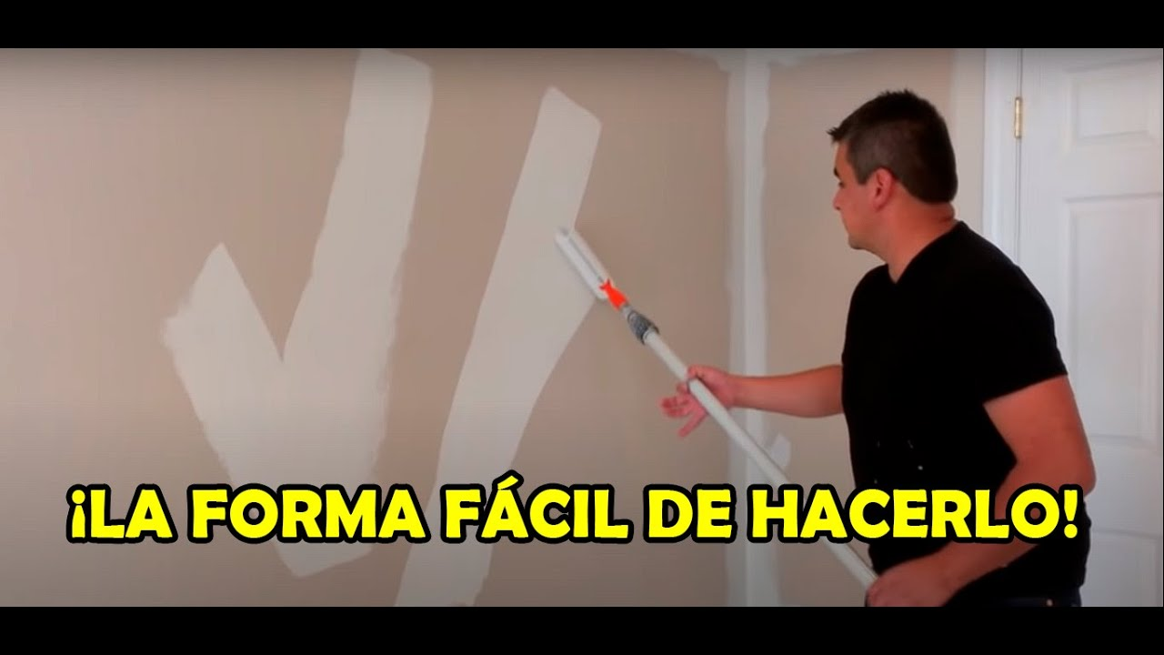 Como pintar una pared interior youtube for Pintura para pared interior