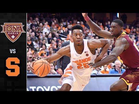Iona vs Syracuse Basketball Hi frank howard