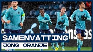HIGHLIGHTS | Wereldgoal Stengs hoogtepunt bij ruime overwinning Jong Oranje in Noorwegen