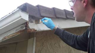 DRY ROT REPAIR WITH THE WOODWIZZARDS WOOD REPAIR SYSTEM, CAPISTRANO BEACH, CA