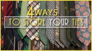 my1928 Tie Storage - 4 Ways to Store Your Ties