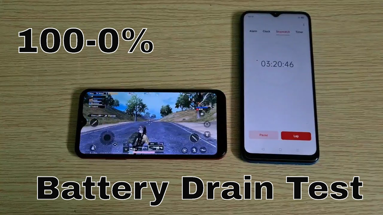 Samsung Galaxy M01 Battery Drain Test