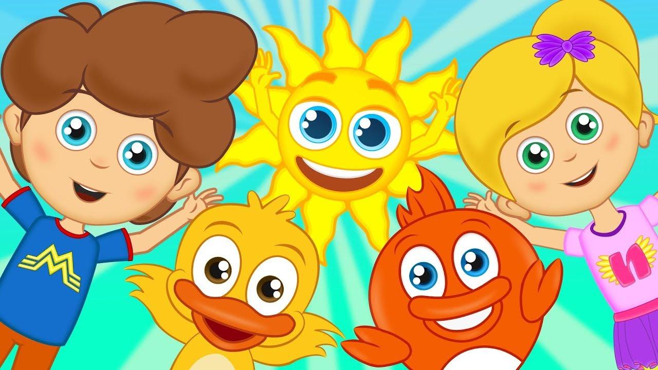 ا صباح الخير أناشيد للأطفال رسوم متحركة اغاني اطفال Canciones De Ninos Cancion De Buenos Dias Canciones Infantiles