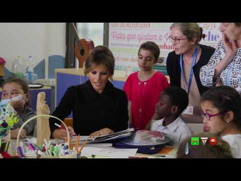 Visita della First Lady Melania Trump all'Ospedale Pediatrico Bambino Gesù - www.HTO.tv