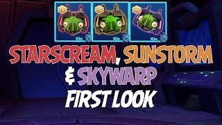 Angry Birds Transformers Starscream, Sunstorm & Skywarp First Look - iOS, Android