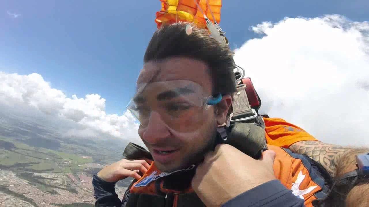 Salto de Paraquedas do Levi na Queda Livre Paraquedismo 14 01 2017