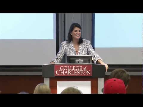 S.C. Governor Nikki Haley Speaks at School of Business