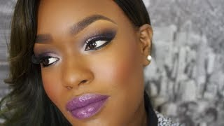 Fall Makeup Purple Lips PURPLE EYESHADOW