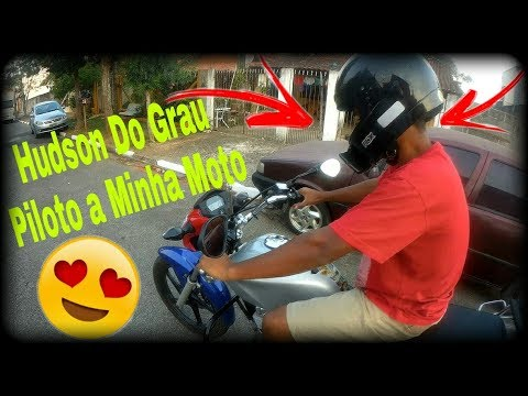 Hudson do grau pilotando minha moto #Herbertloko