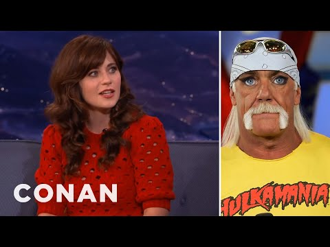 Zooey Deschanel's Eyes On Male Celebs Is Mesmerizing   CONAN on TBS