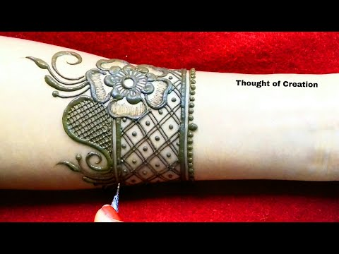 Easy Stylish Arabic Mehndi Design for Hands |Thought of Creation