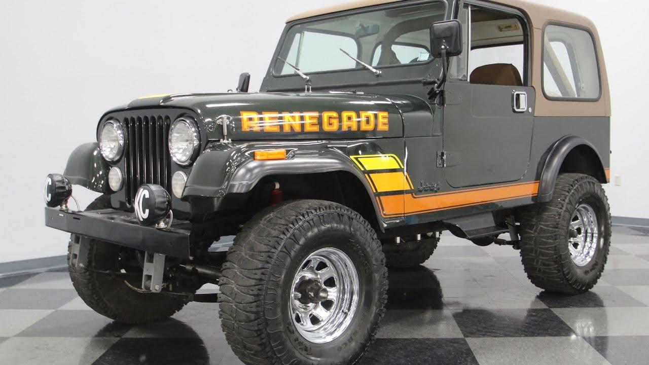 345 NSH 1982 Jeep CJ7 Renegade  YouTube