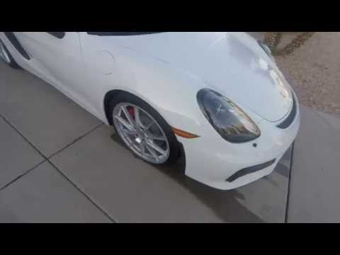 Washing  up the Porsche Boxster Spyder