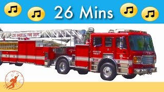 Kids Fire Engine Song | + More Kids Car and Truck Songs | Kids Truck Videos