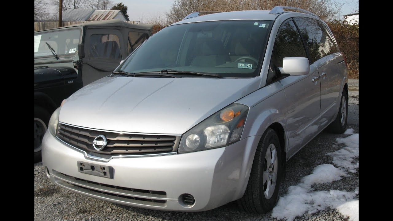 2007 nissan quest 35s start up and tour youtube vanachro Gallery