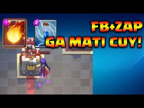 WITCH SEKARANG KENA FIREBALL + ZAP GA MATI!! - Clash Royale Indonesia