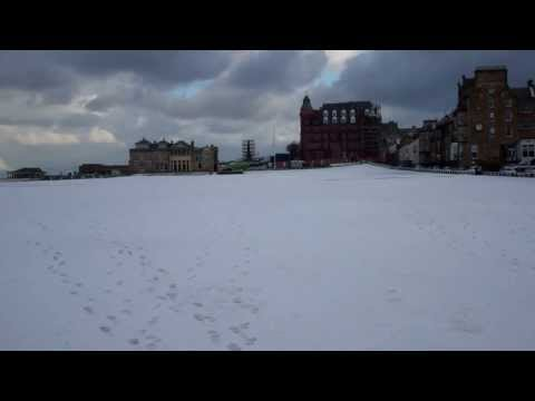 Winter Weather Old Golf Course St Andrews Fife Scotland