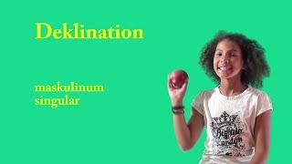 Deklination (maskulinum singular)