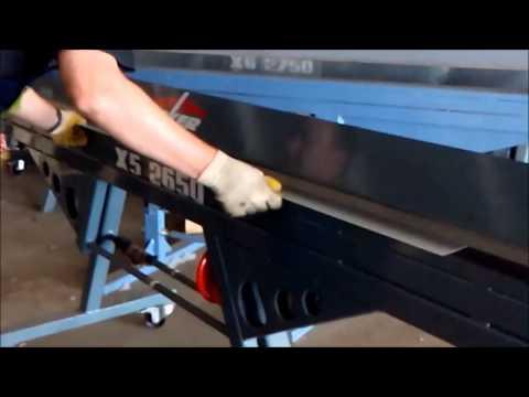 Изготовление оконного отлива на листогибе Decker X5-2650