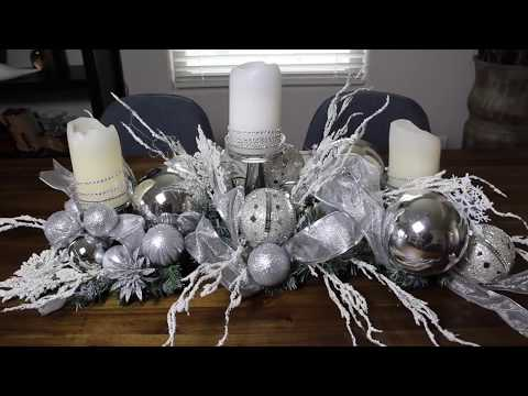 DOLLAR TREE GLAM CENTERPIECE  2018 / Frosty Centerpiece DIY/ How To Make A Centerpiece On A Budget