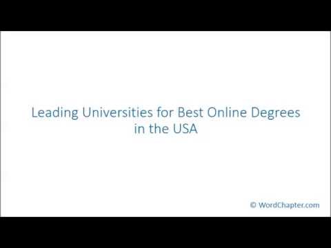Leading Universities for Best Online Degrees in the USA