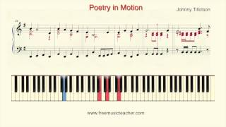 "How To Play Piano: Johnny Tillotson ""Poetry in Motion"" Piano Tutorial by Ramin Yousefi"