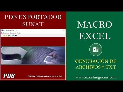 PDB EXPORTADOR - Macro en Excel generador de Archivos planos (Estructuras)