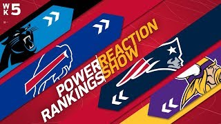 Power Rankings Week 5 Reaction Show: Rams Take the Patriots Place Inside the Top 10?  | NFL Network